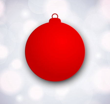 Xmas background with red papper ball Vector