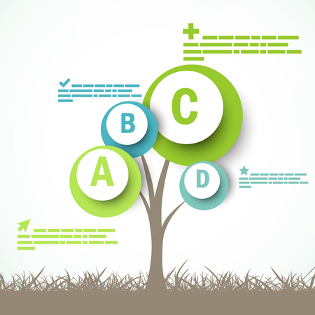 grow: Infographic design with abstract tree