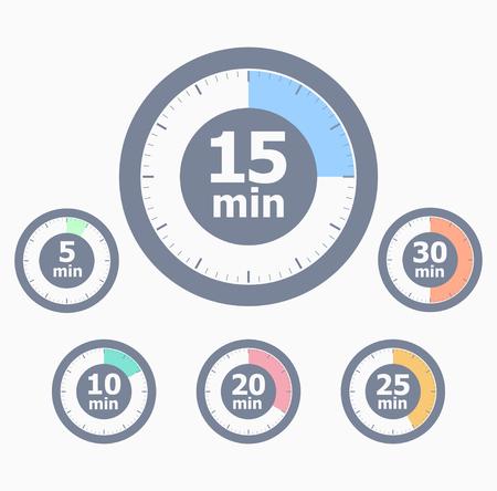 stop time: Set of timers Illustration