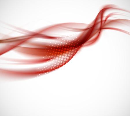抽象的な背景が赤。明るいイラスト