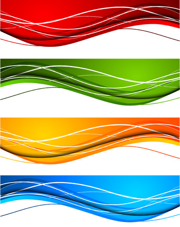 design solutions: Set of wavy banners Illustration
