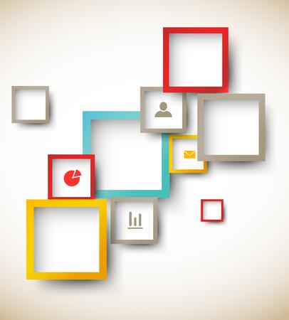 Ontwerp sjabloon met vierkantjes