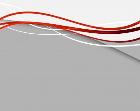 wave design: Abstract background with red lines