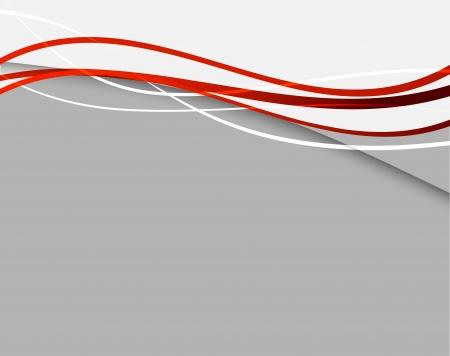 light wave: Sfondo astratto con linee rosse Vettoriali