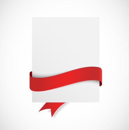 Banner met rood lint Stock Illustratie