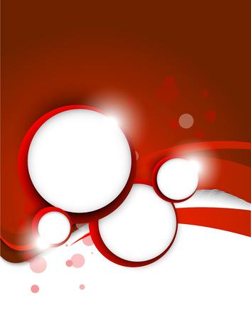 赤の背景の円に  イラスト・ベクター素材