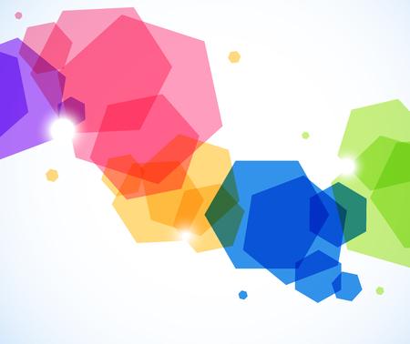 六角形と抽象的な背景  イラスト・ベクター素材