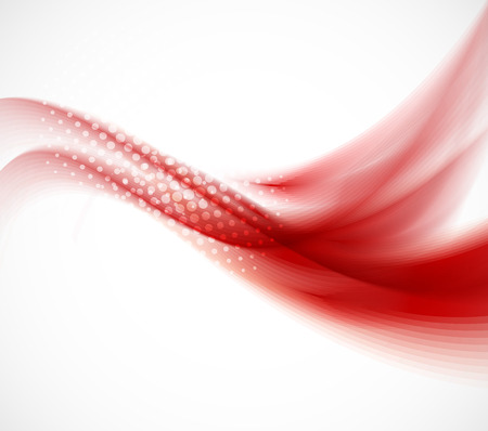 Wavy red background