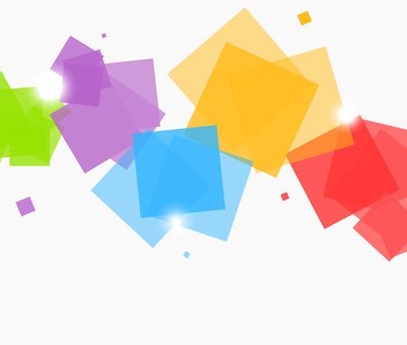 Abstracte achtergrond met vierkanten