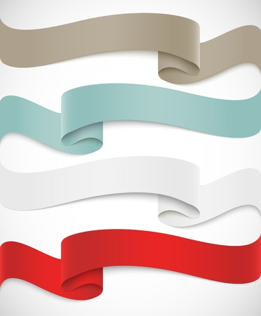 Set of ribbons Illustration