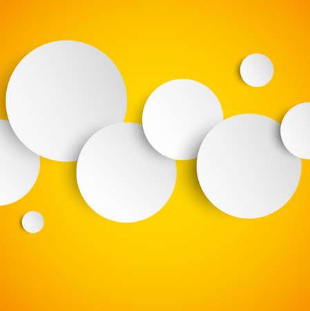 fond abstrait orange: R�sum� fond orange avec des cercles de papier