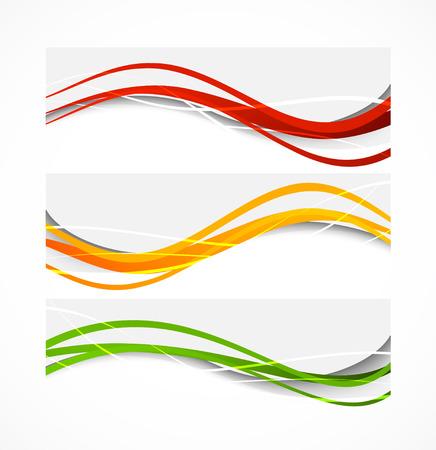 Conjunto de banderas ondulantes
