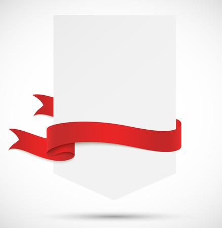 Banner met rood lint Stockfoto - 26078618
