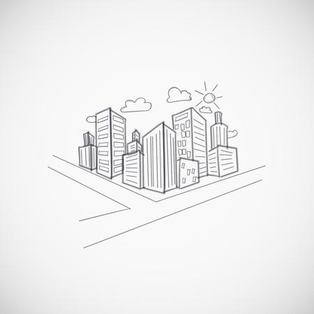road scraper: Cityscape background