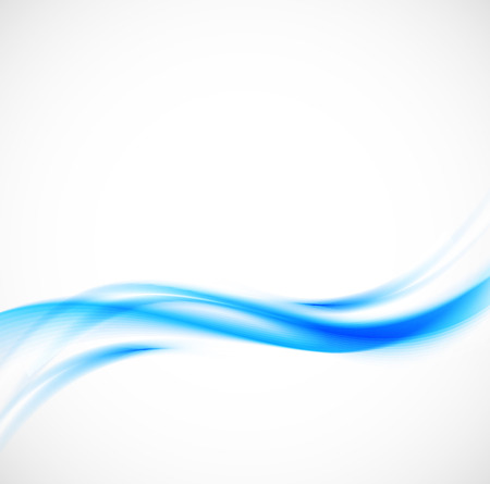 Abstract blue wavy background Ilustrace