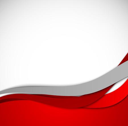 赤い波線の背景
