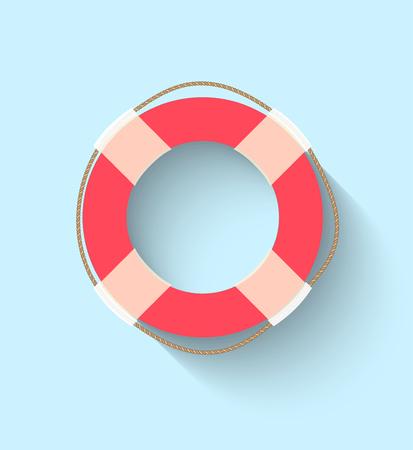 Life buoy in flat style Illustration