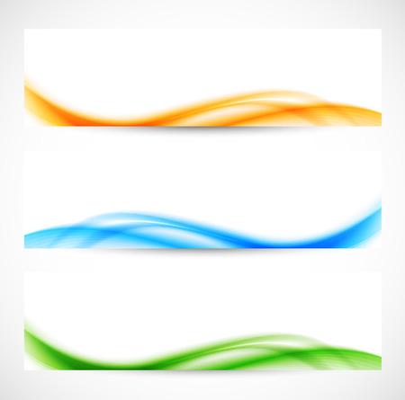softness: Set of colorful softness banners