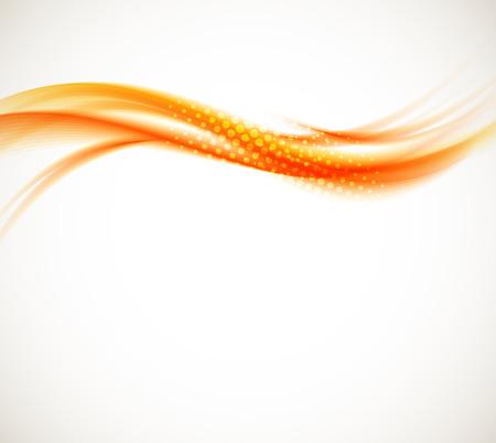 wave: Abstract orange wave
