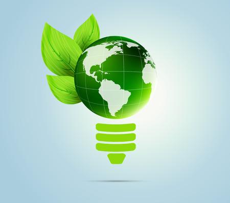 blue bulb: Green concept Illustration