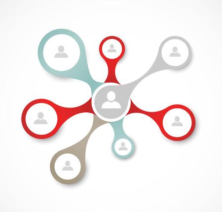 réseautage: Concept de réseau social