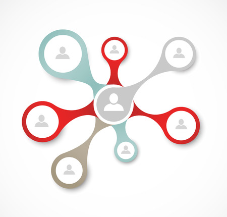 Social network concept Ilustracja