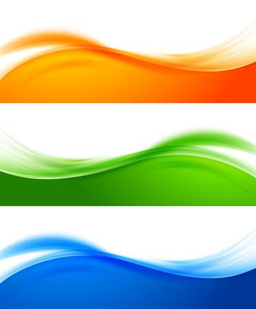 Set van kleurrijke banners Stock Illustratie