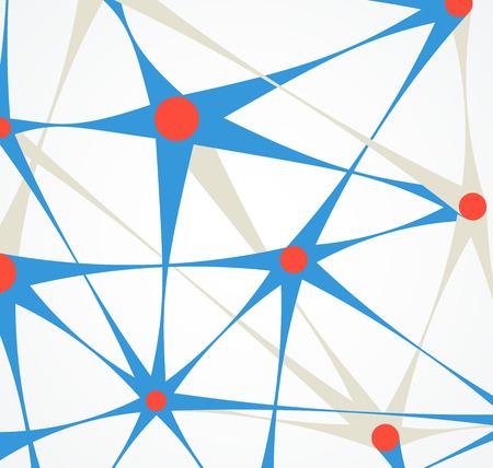 neuron: Abstract background Illustration