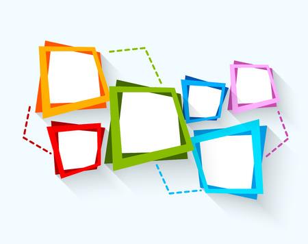 Abstracte achtergrond met kleurrijke vierkanten Stockfoto - 26672706
