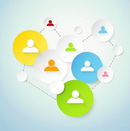 social network: Social network concept Illustration
