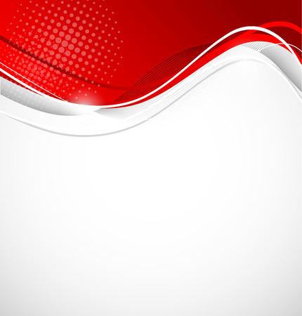 Abstract wavy background in red color Ilustração
