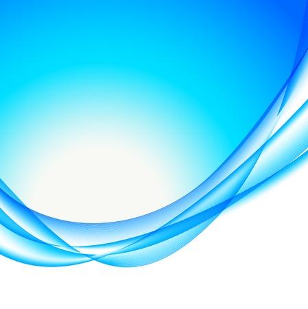ブルーの色で抽象的な波状 bakground  イラスト・ベクター素材