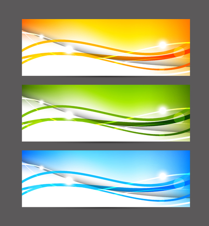 Set van kleurrijke banners Stockfoto - 26819927