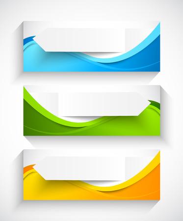 抽象的なバナーの設定  イラスト・ベクター素材