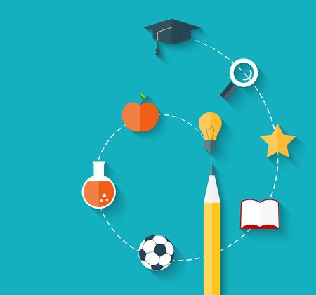 learning concept: Education background Illustration