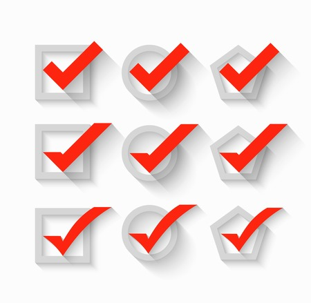 check box: Check mark symbols