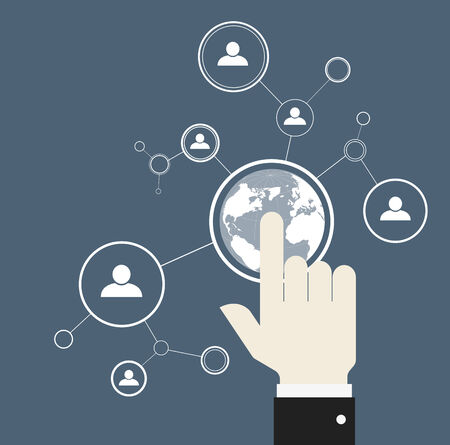 global networking: Network concept