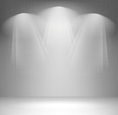 stage lights: Wall with spotlight Illustration