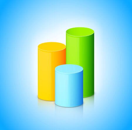 Infographic sjabloon met kleurrijke cilinders Stock Illustratie