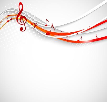 추상 음악 배경입니다. 물결 모양의 vecotr 그림