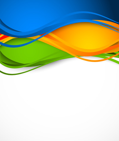 Abstract colorful background. Wavy illustration Vector