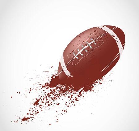 pelota rugby: Diseño de fútbol americano en el estilo grunge Vectores