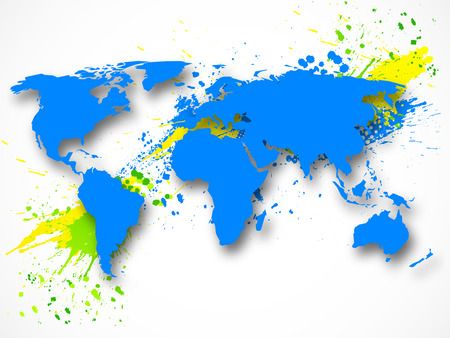worldmap: Abstract grunge background with map