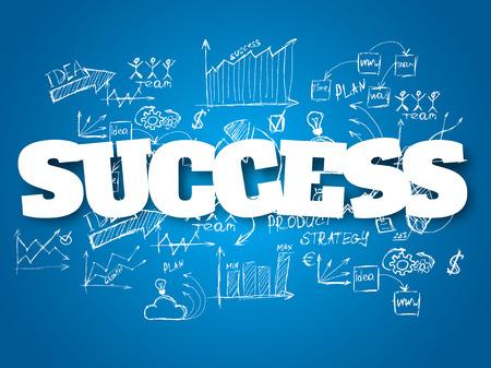 사업 배경입니다. 성공 개념 일러스트
