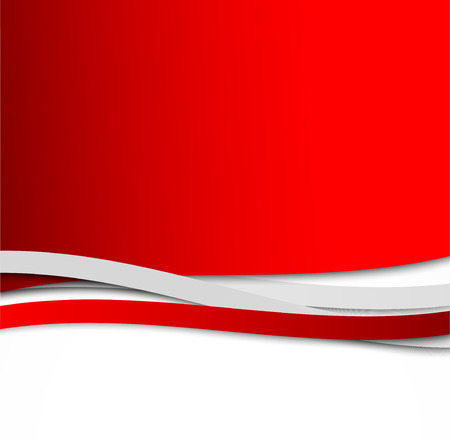 grey: Abstract wavy red background