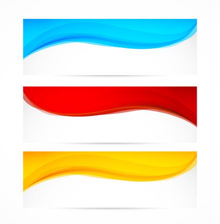 波状のバナーの設定