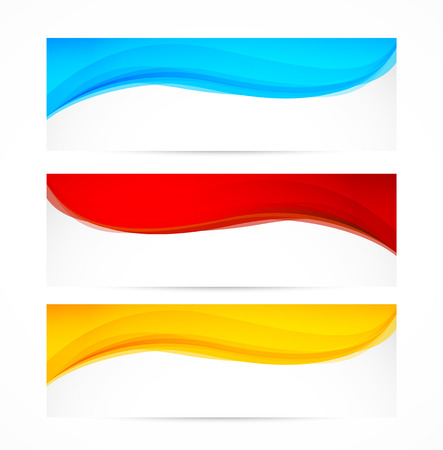 Set golvende banners Stockfoto - 28914101