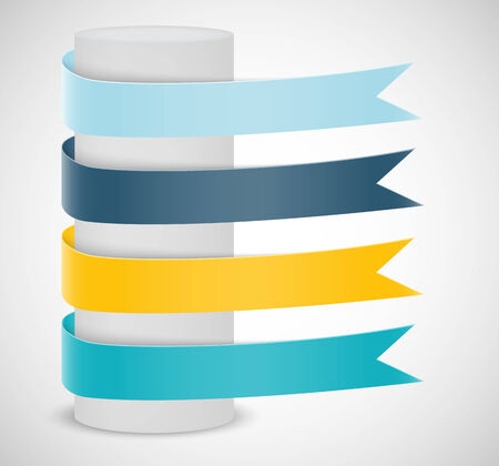 Set of ribbons. Infographic design Vector
