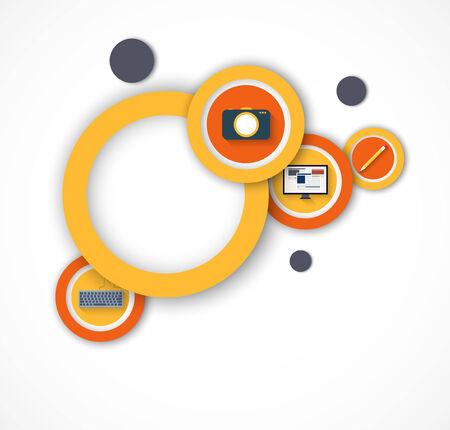 blogging: Blogging background Illustration