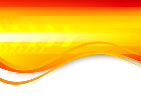 orange arrow: Abstract wavy orange background
